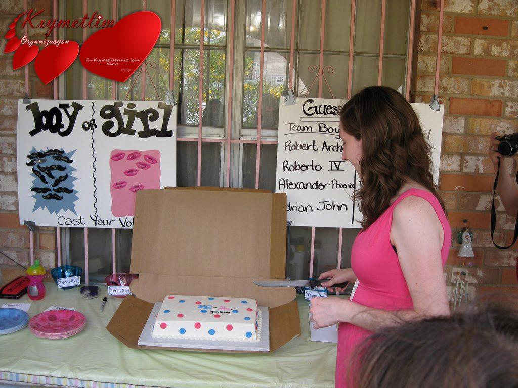 kız mı erkek mi partisi anne bebek partileri Kıymetlim Organizasyon