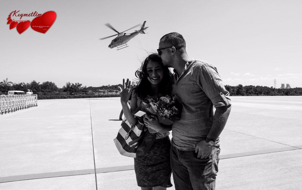 Helikopterde Evlilik Teklifi - KIYMETLİM ORGANİZASYON