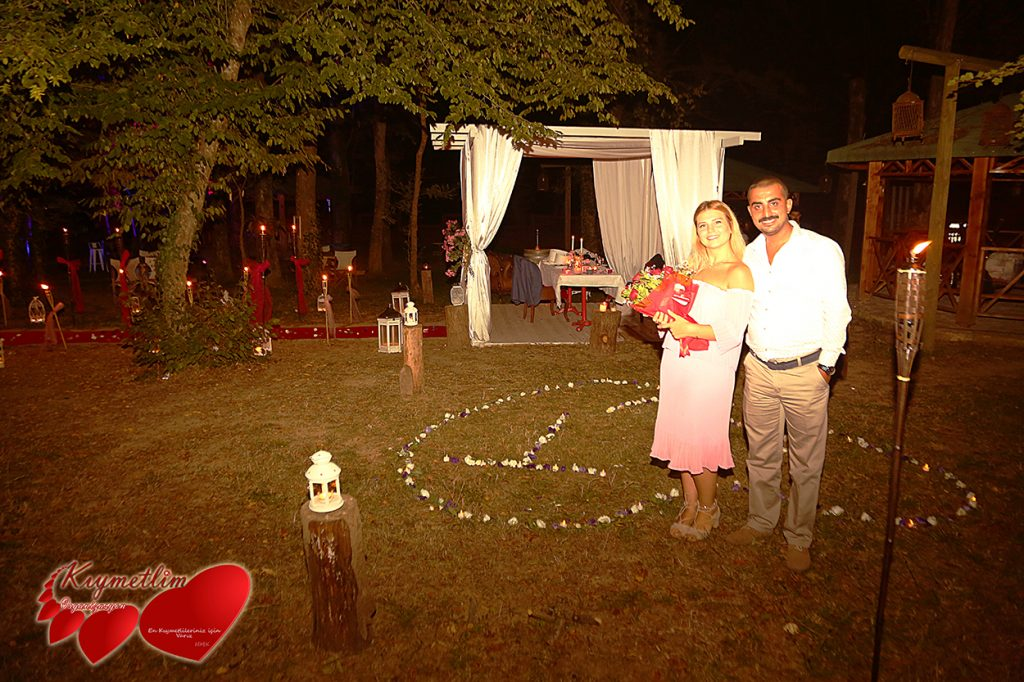 Romantik evlilik teklifleri - Ormanın Büyüsü - Kıymetlim Organizasyon