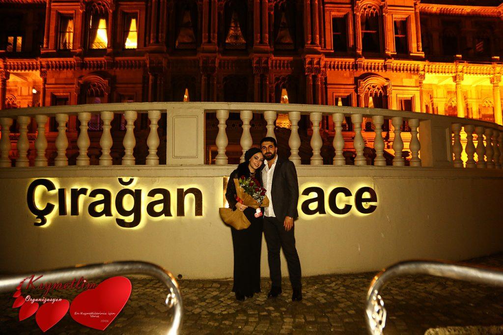 Çırağan sarayından aşka uzanan yol - çırağan sarayında evlilik teklifi - evlilik teklifi organizasyonları - KIYMETLİM ORGANİZASYON