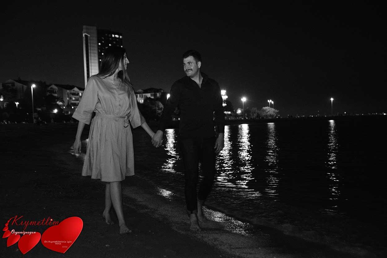 Kumsalda evlilik teklifi - sürpriz evlilik teklifi organizasyonları - KIYMETLİM ORGANİZASYON