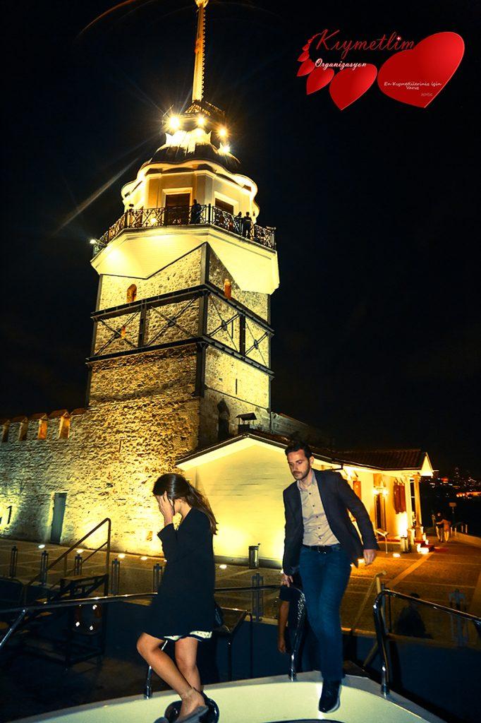 Kız Kulesinden Galataya Mektuplar - Kız Kulesinde Evlilik Teklifi - Sürpriz Evlllik Teklifi Organizasyonları - Kıymetlim Organizasyon