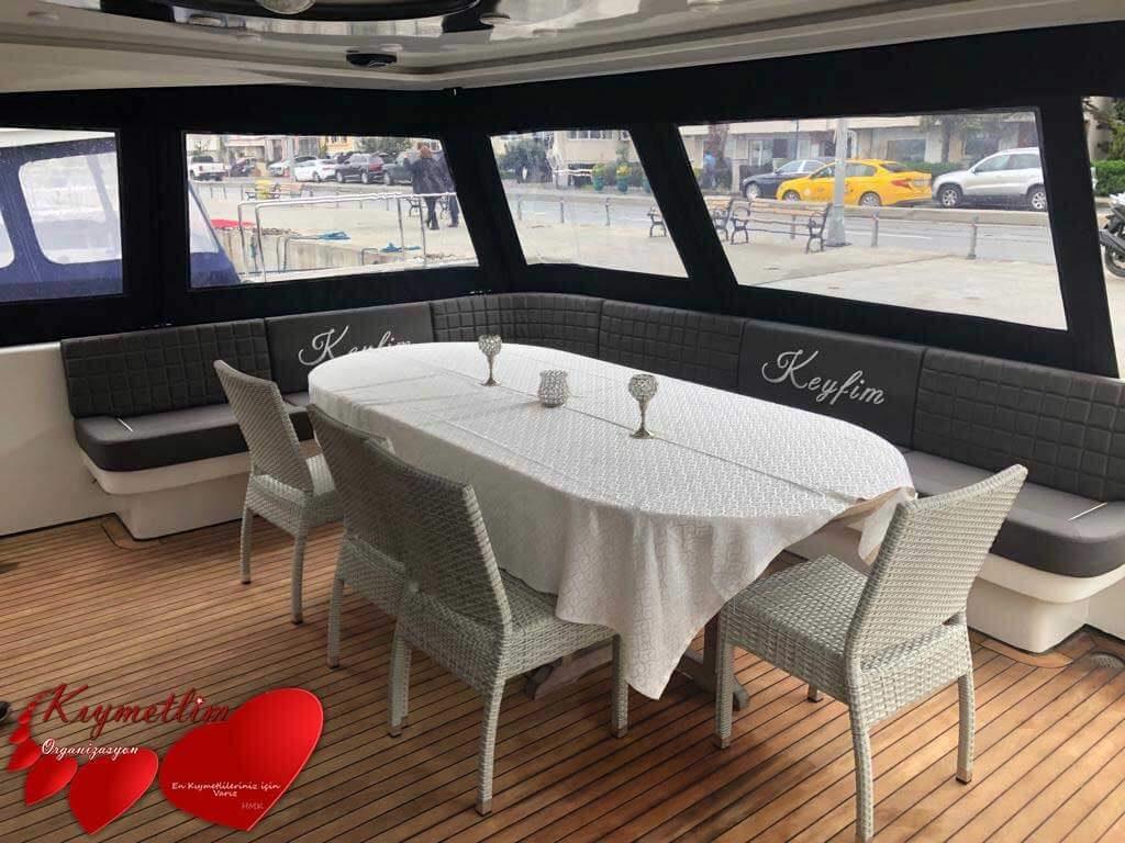 Keyfim Yatı - Yat kiralama - tekne kiralama - yüzme turu - yat hizmetleri - Kıymetlim organizasyon