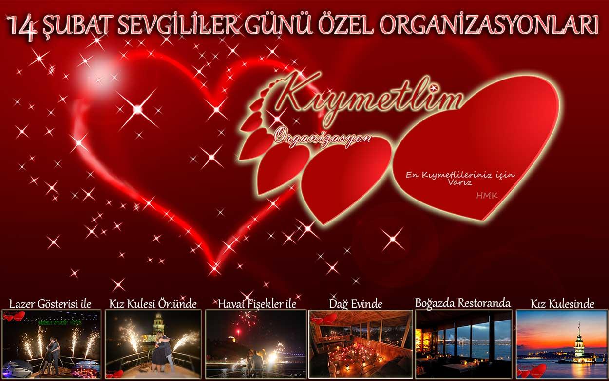 14 şubat sevgililer günü organizasyonları - kıymetlim organizasyon